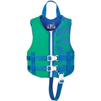 "FULL THROTTLE CHILD RAPID DRY VEST-Child 20-25"", 30-50 lbs, Green"
