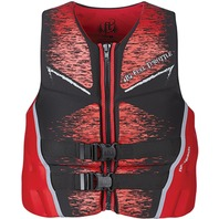 "FULL THROTTLE  MEN'S HINGED RAPID DRY FLEX-BACK VEST-Medium 36-40"", Red"