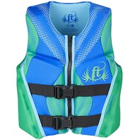 "FULL THROTTLE? INFANT/CHILD/YOUTH RAPID DRY FLEX-BACK VEST-Youth 24-29"", 50-90 lbs, Green"