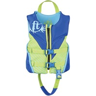 "FULL THROTTLE CHILD RAPID DRY FLEX-BACK VEST-Child 20-25"", 30-50 lbs, Blue"