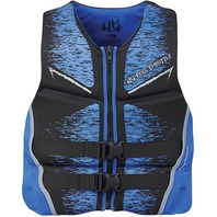 "FULL THROTTLE  MEN'S HINGED RAPID DRY FLEX-BACK VEST-Medium 36-40"", Blue"