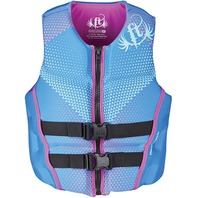"FULL THROTTLE WOMEN'S RAPID DRY FLEX-BACK VESTS-X-Small 28-32"", Blue"