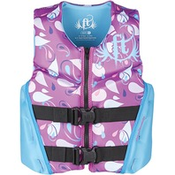 "FULL THROTTLE YOUTH RAPID DRY FLEX-BACK VEST-Youth 24-29"", 50-90 lbs, Purple"