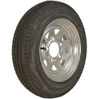 KENDA RIM & TIRE ASSEMBLY, SPOKED WHEEL, GALVANIZED-530 x 12 6 Ply; 5-Hole Spoked Rim; Load Range C