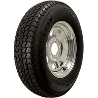 KENDA RIM & TIRE ASSEMBLY, SPOKED WHEEL, GALVANIZED-ST205/75D14; 5-Hole Spoked Rim; Load Range C