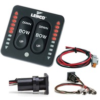 Lenco Single Actuator Control Switch w/LED Trim Indicators, Retractor & Self-Check