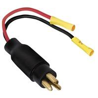 PLUG 2 Wire , 12V, 2-10 GA-Trolling Motor Plug, 10 Ga. Male