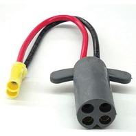 V-GROOVE TROLLING MOTOR PLUG-2-Wire Plug, 10 ga. w/Butt Connectors