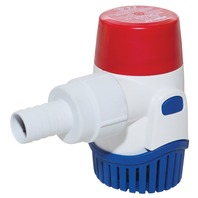 "RULE SUBMERSIBLE BILGE PUMP, 800 GPH, 3/4"" Hose Dia."