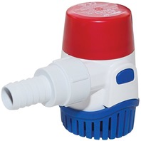 "RULE SUBMERSIBLE BILGE PUMP, 360 GPH, 3/4"" Hose Dia."