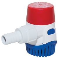 "RULE SUBMERSIBLE BILGE PUMP, 500 GPH, 3/4"" Hose Dia."
