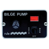 BILGE PUMP SWITCH, 3 WAY PANEL-Auto/Off/Manual
