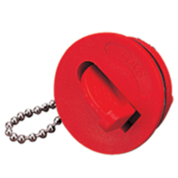 NYLON KEYLESS REPLACEMENT CAP-Gas Marking; Red Cap Only