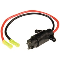 TROLLING MOTOR CONNECTOR, 12VOLT 10 GA-Trolling Motor Plug Male