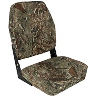 HIGH BACK FOLD DOWN BOAT SEAT, CAMOUFLAGE- Mossy Oak Duck Blind