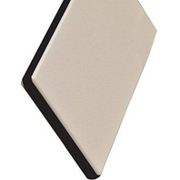 "KING COLORCORE ENGRAVABLE POLYMER SHEET-Off White/Black/Off White, 12""L x 27""W x 1/4"" Thick"