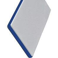 "KING COLORCORE ENGRAVABLE POLYMER SHEET-White/Blue/White, 12""L x 27""W x 1/4"" Thick"