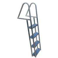 DOCK LADDER-4-Step Ladder, Silver Galvanized