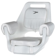 WISE Deluxe Pilot Chair w/Padded Armrests, White