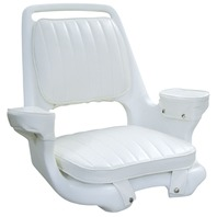 WISE Captain's Chair w/Cushions and Mounting Plate, Cuddy Bright White