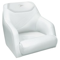 WISE Marine Traditional Bucket Seat w/Mounting Plate, Cuddy Bright White