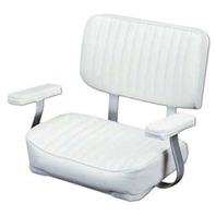 WISE Deluxe Helm Chair with Arm Rests, White