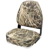 CAMOUFLAGE HIGH BACK FOLD DOWN SEAT-Mossy Oak Shadowgrass Blades