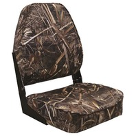CAMOUFLAGE HIGH BACK FOLD DOWN BOAT SEAT-Mossy Oak Max-5 camo