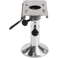"WISE 12""-18"" Adjustable Height Pedestal with Seat Slide 2-7/8"" Dia."