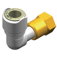 """WHALE QUICK CONNECT PLUMBING SYSTEM FITTING-Elbow Adaptor 1/2"""" BSP Female - 15 mm"""
