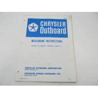 OB1143 Measuring Instructions for Chrysler Remote Control Cable Kit 195