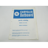 OB1723 1972 Chrysler Outboard Parts Catalog for Remote Control 161 163
