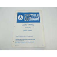OB1725 1972 Chrysler Outboard Parts Catalog for Remote Control 866