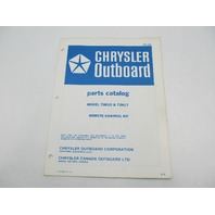 OB1726 1972 Chrysler Outboard Parts Catalog for Remote Control Kit 70H10 72H17
