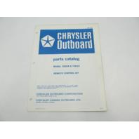 OB1727 1972 Chrysler Outboard Parts Catalog for Remote Control Kit 70H09 72H16