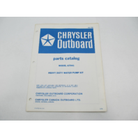 OB1729 1972 Chrysler Outboard Parts Catalog for Heavy Duty Water Pump Kit A7941