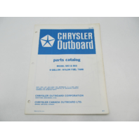 OB1732 1972 Chrysler Outboard Parts Catalog for 6 Gallon Fuel Tank 582 583