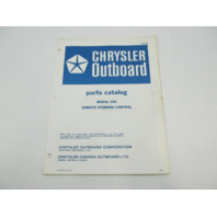 OB1734 1972 Chrysler Outboard Parts Catalog for Remote Steering Control 166