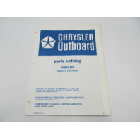 OB1738 1972 Chrysler Outboard Parts Catalog for Remote Control 865