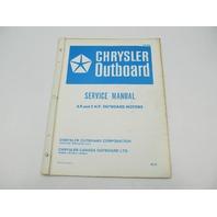 OB1895 1972 Chrysler Outboard Service Manual 4.9 & 5 HP