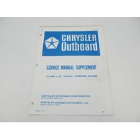 OB1899 Chrysler Outboard Service Manual Supplement 4.5 & 6 HP Special