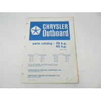 OB1988-1 Outboard Parts Catalog for Chrysler 35 45 HP 1976 Manual Tiller