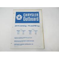 OB1992-1 Outboard Parts Catalog for Chrysler 75 & 90 HP 1976 757HB 907HB