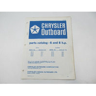 OB2155 Outboard Parts Catalog for Chrysler 6 & 8 HP 1976 62HH 63HH 82HH 83HH
