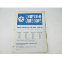 OB2157 Outboard Parts Catalog for Chrysler 10 & 15 HP 1976 102HD 109HA 152HC 159HA
