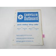 OB2158 Outboard Parts Catalog for Chrysler 10 HP Sailor 1976 100HA 100BA