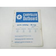 OB2159 Outboard Parts Catalog for Chrysler 35 HP 1976 Hand Start Alt Electric
