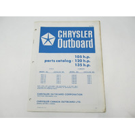 OB2161 Outboard Parts Catalog for Chrysler 105 120 135 HP 1976