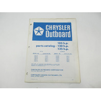 OB2276 Outboard Parts Catalog for Chrysler 105 120 135 HP 1976