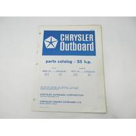 OB2492 Outboard Parts Catalog for Chrysler 55 HP 1978 558HK 559HK 558BK 559BK